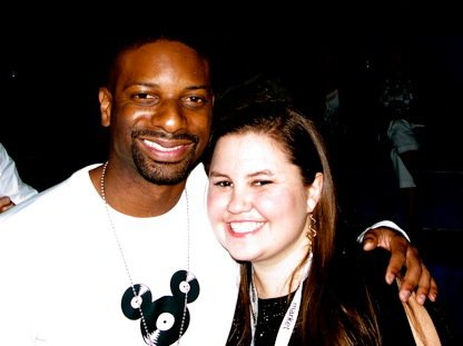 Amanda with DJ Irie