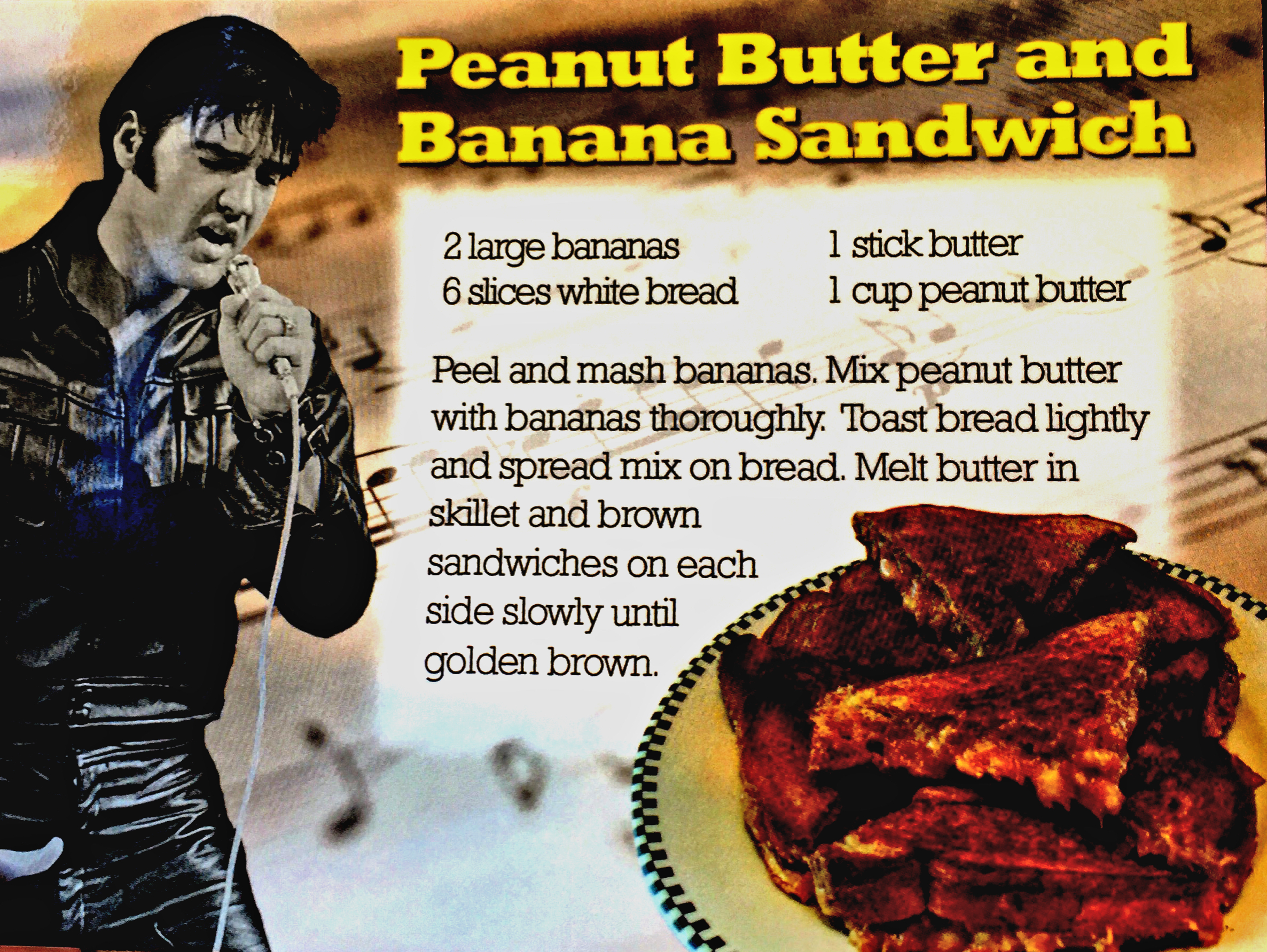 Elvis' Famous Fried PB & Banana Sandwich
